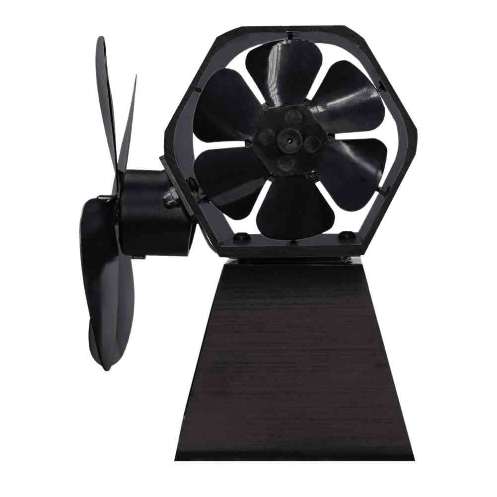 High Quality 4 Blade Thermal Power Fireplace Fan