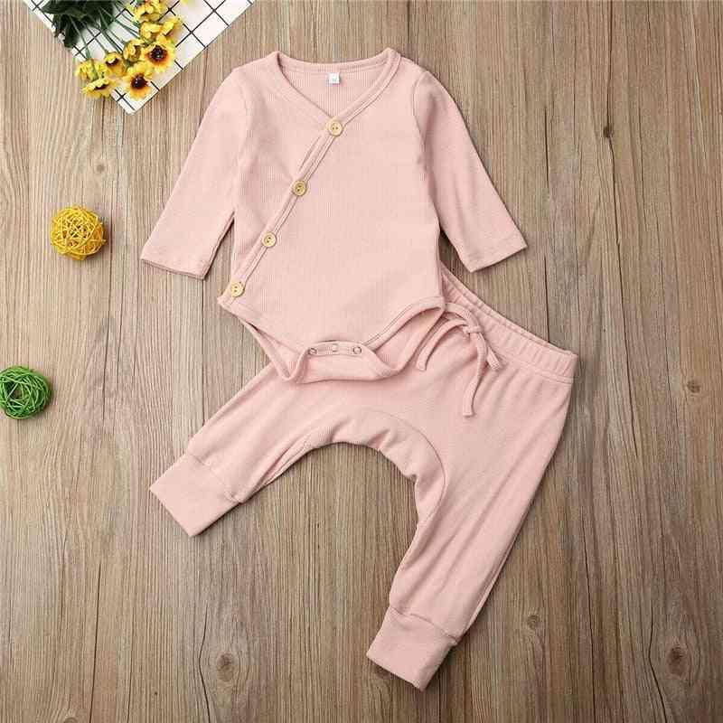 V Neck, Cotton Sleepwear Clothes For Newborn