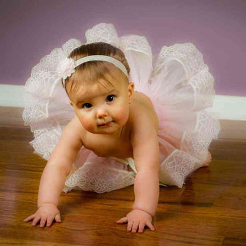 Ribbon Ruffle Mini Layers Ball Gown / Skirt For Baby Girl