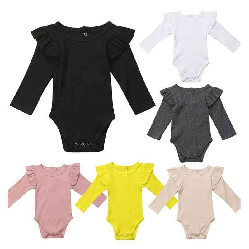 Ruffle Pattern, Long Sleeve Warm Jumpsuits