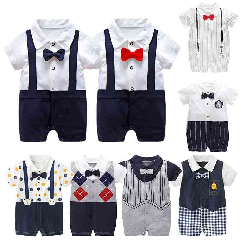 Gentleman Style Rompers For Kids