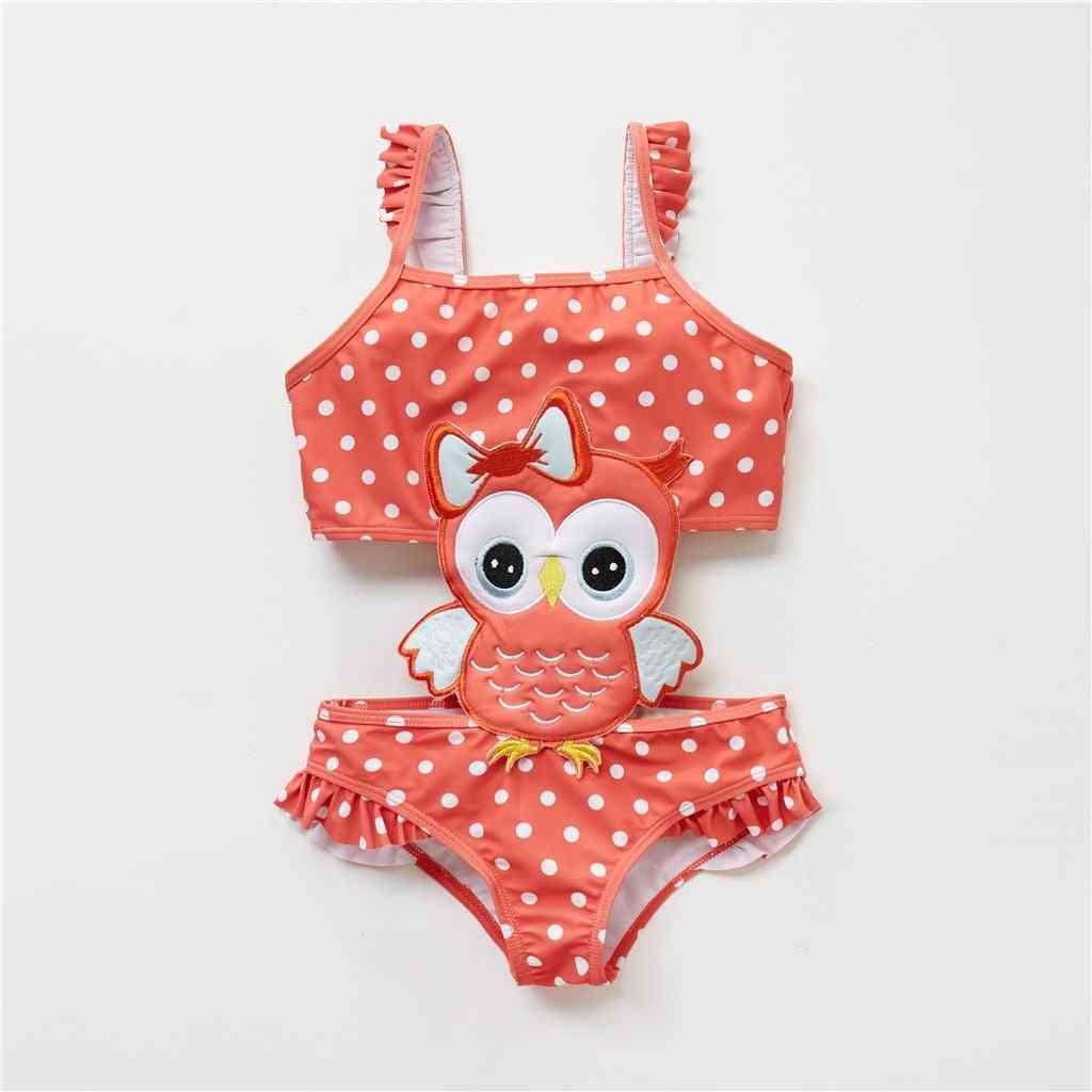Cute Owl/ice Cream/bee Pattern One Piece Swim Wear For Baby