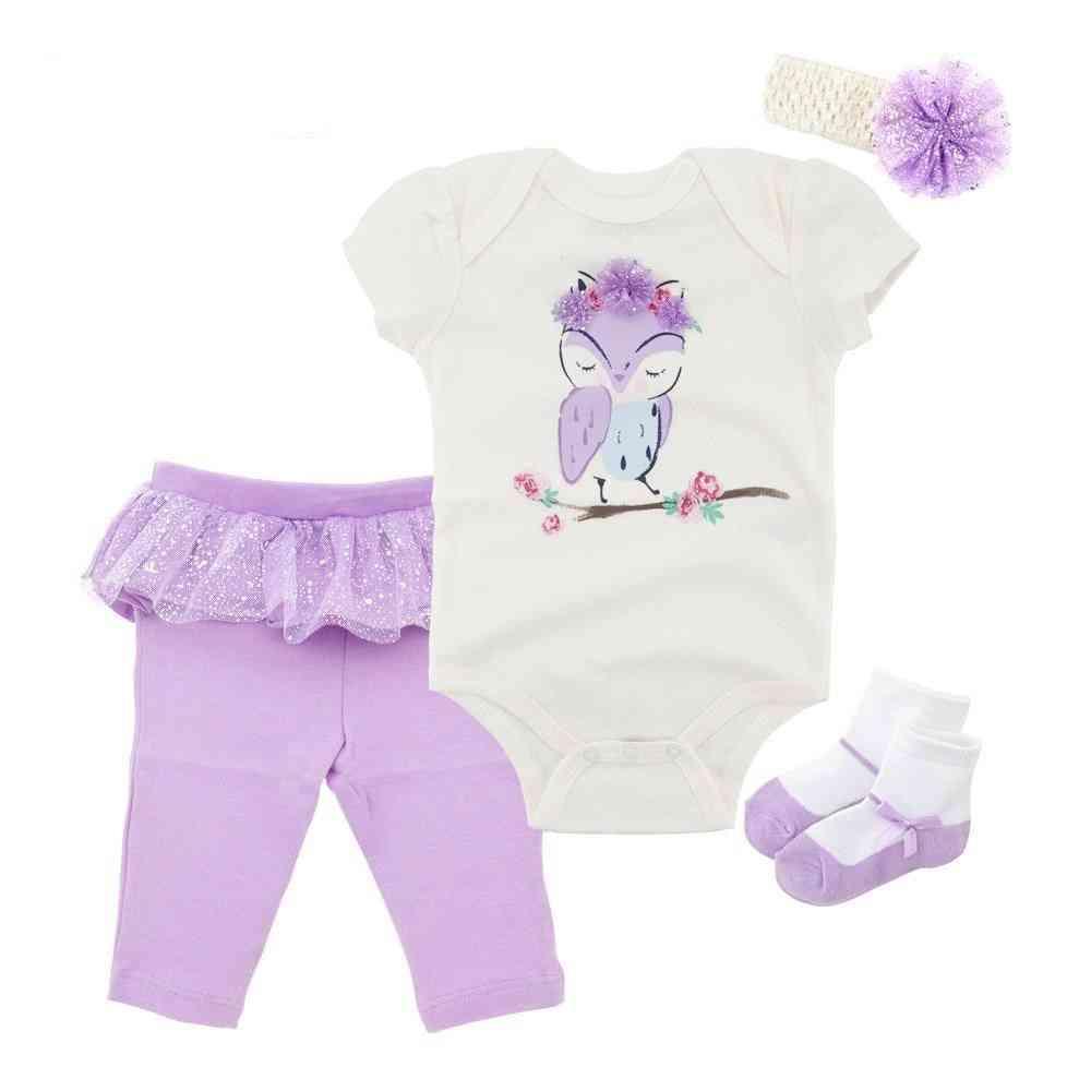 Baby Girl / Boy Cotton Sleepwear Robe Outfits Newborn Gown Pajamas Set, Top Socks, Pants & Headbands