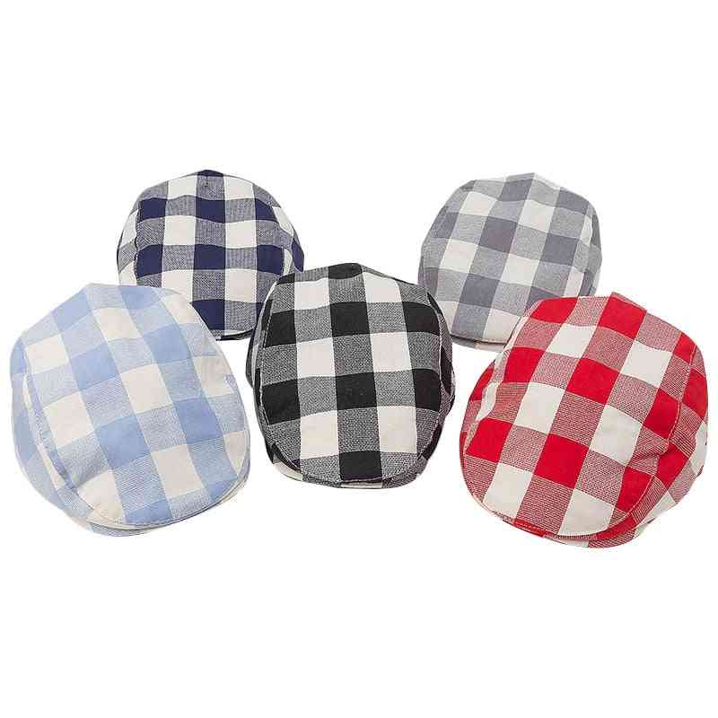 Baby Cotton Linen Handsome Cap, Beret Elastic Kids Hat