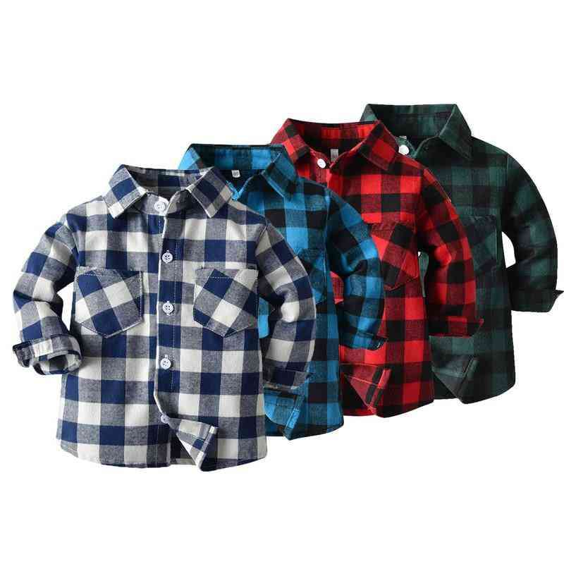 Spring, Autumn Fashion Baby Boy - Long Sleeve Cotton Shirt
