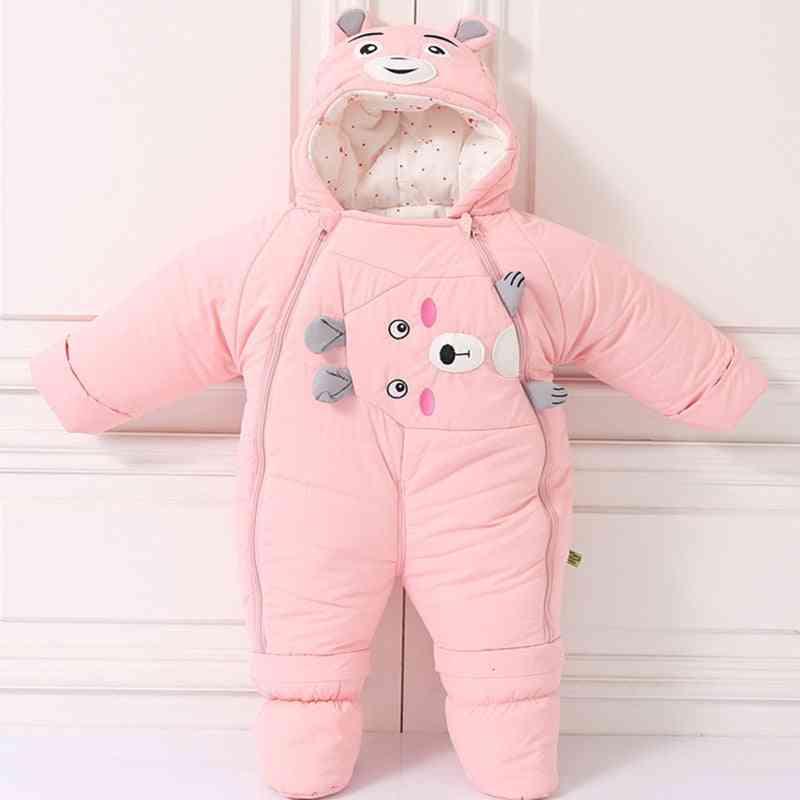 Cold Winter Warm Down Clothing - Newborn Boy Girl Coat Romper Snowsuit