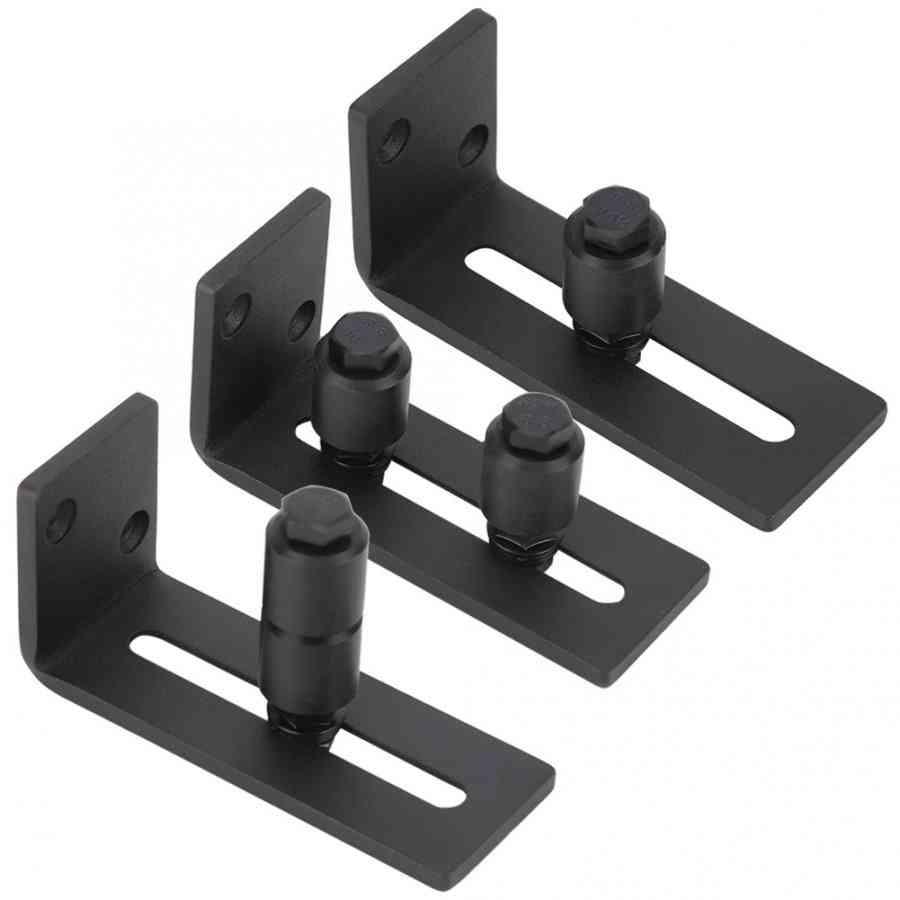 Carbon Steel Adjustable Sliding Slides Floor Guide For Barn Door Hardware Accessory
