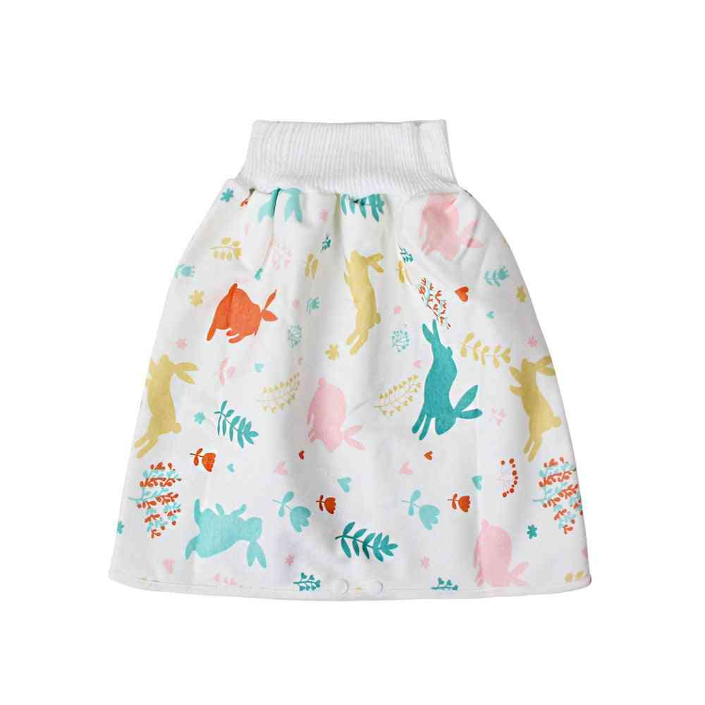 Cute Cartoon Baby Skirt Diapers, Washable Infants Cotton Training Pants, Panties Nappy