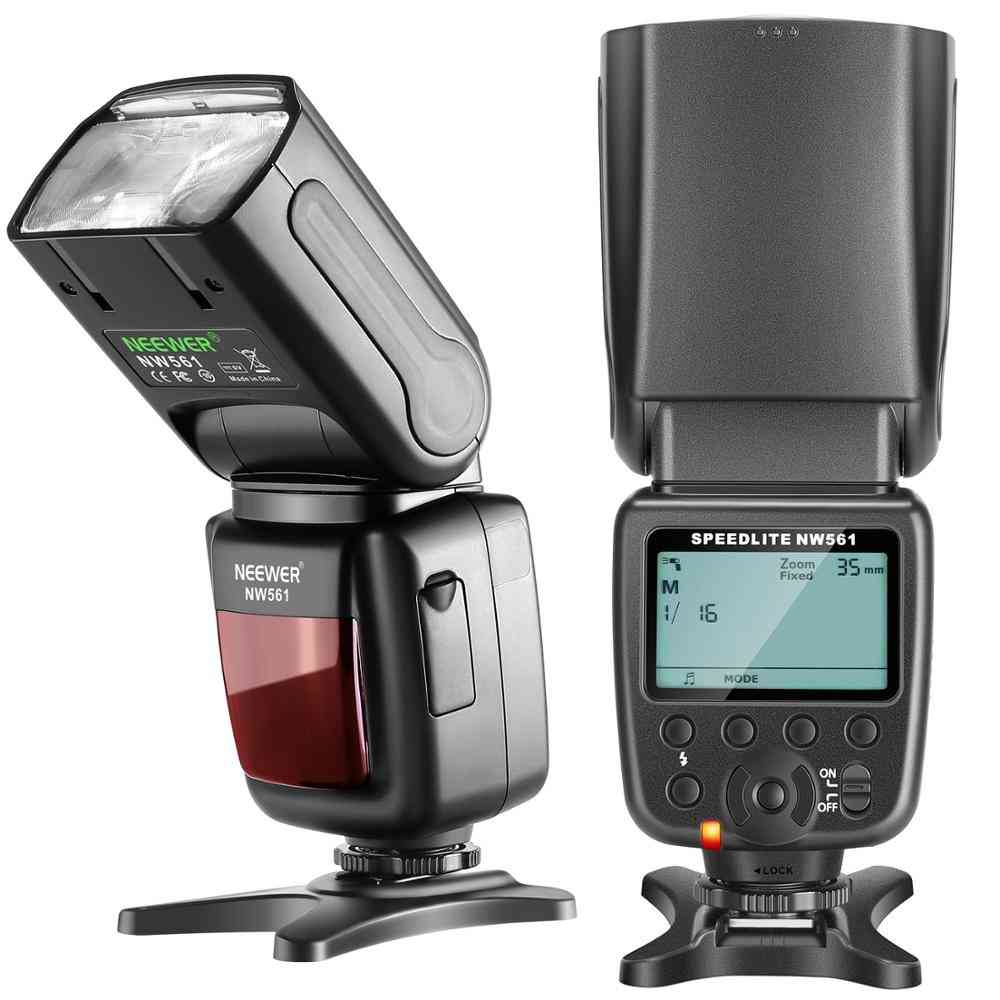 Nw-561 Lcd Display Speedlite Flash, With Mini Stand