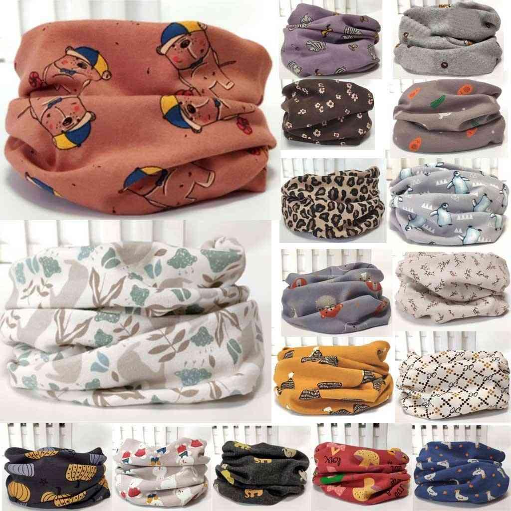 Baby Scarf Burp Cloths - Cute Cartoon Print Kids Collars Neckerchief Cotton For