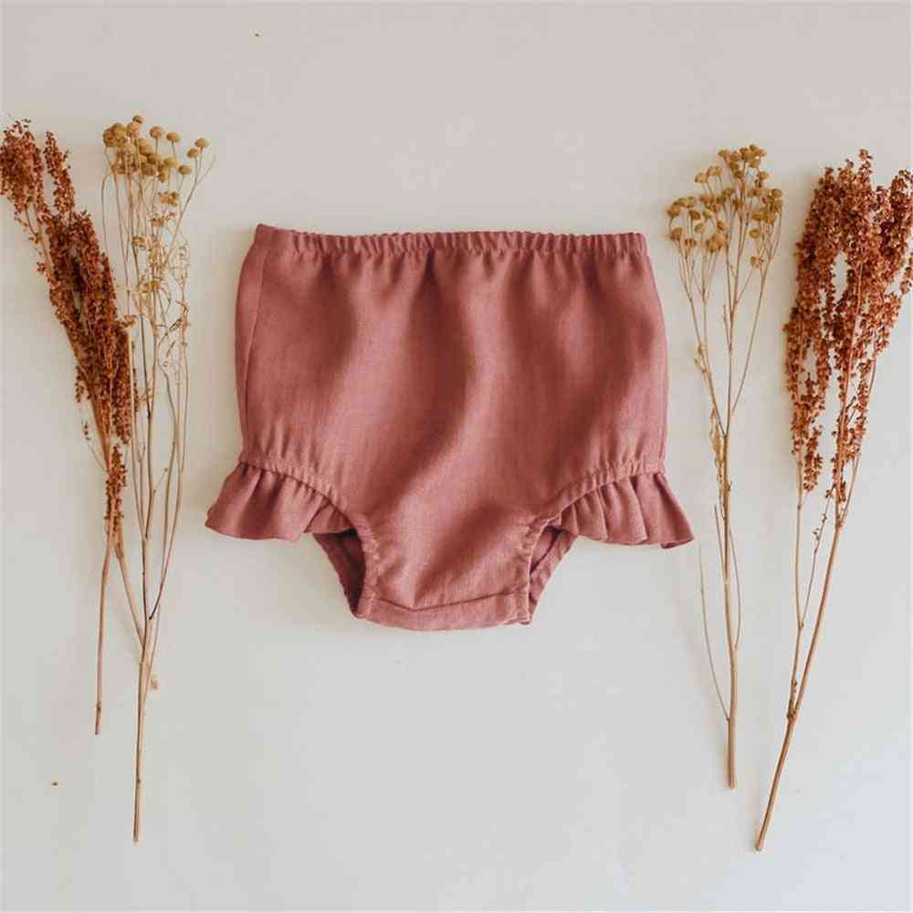 Solid Cotton Bottoms Pp Shorts / Bloomers - Summer Panties