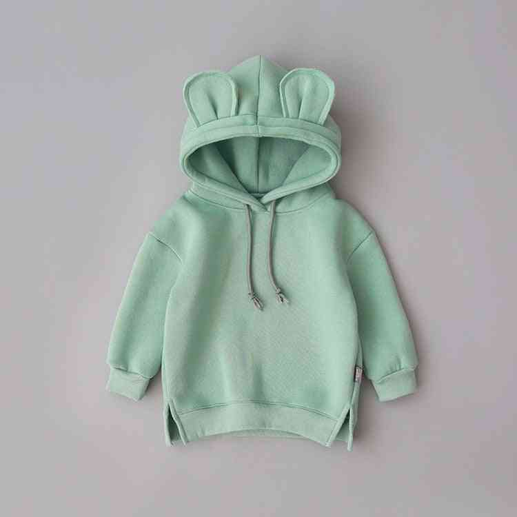 Long Sleeve Pullover Hooded Sweatshirts For Baby /