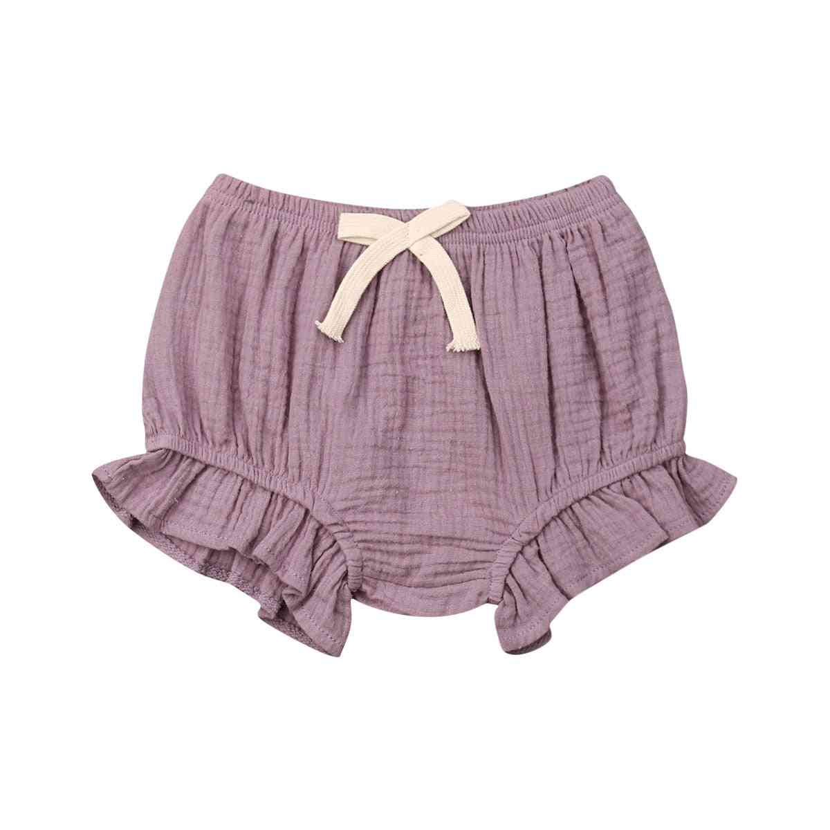 Toddler Infant Baby Boy / Girl Solid Pants- Shorts Bottoms Pp Bloomers Panties