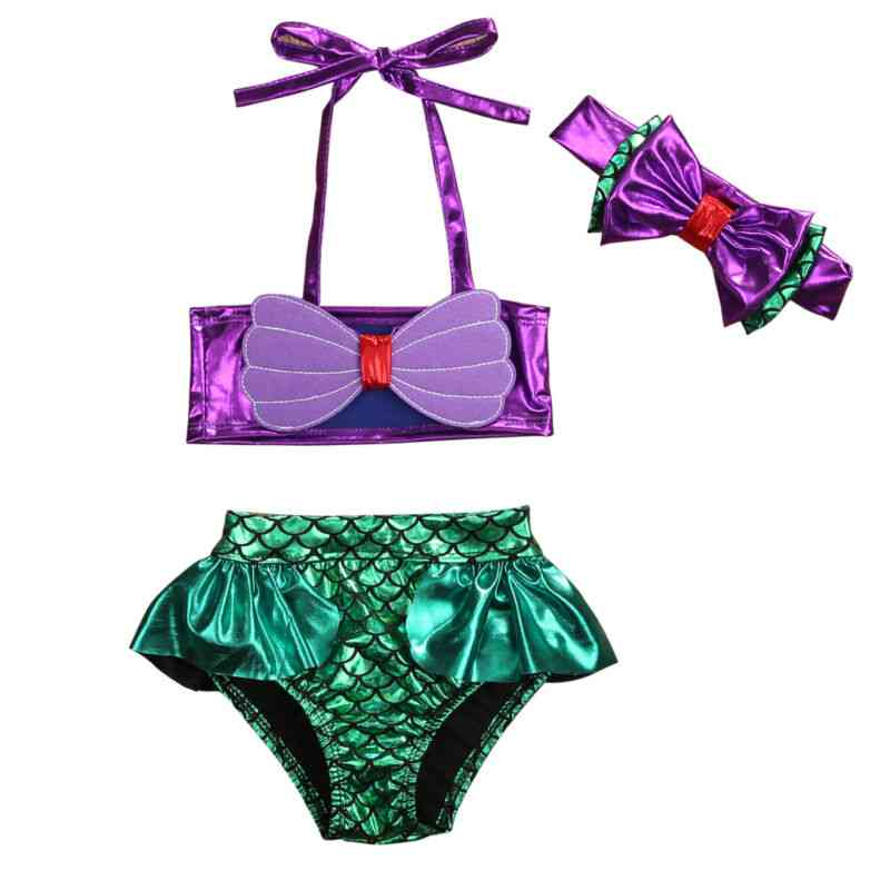 Baby Mermaid Bikini Set- Summer Beach Swimwear, Bathing Suit