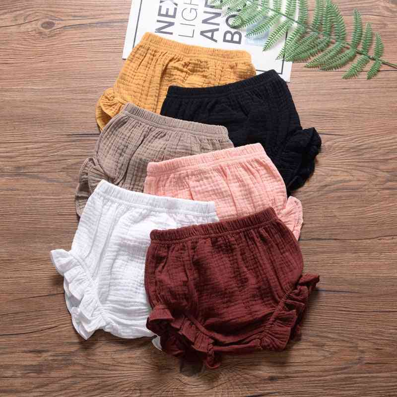 Cotton Linen Shorts, Newborn Baby / Trousers Pp Pants, Diaper Covers Bloomers