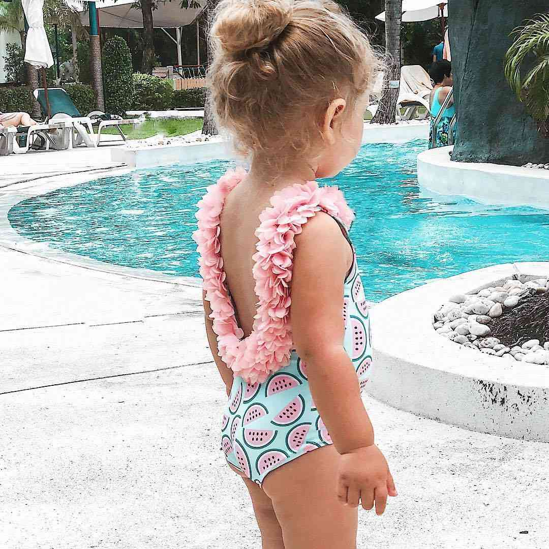 Infant Baby Watermelon Swimsuit- 3d Flower Swimwear Swimming Bikini