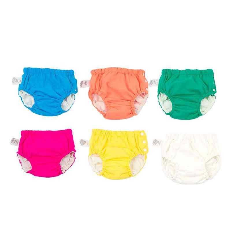 Washable Diaper Cover Swimsuit, Girl Reusable Waterproof Panties Swim Nappies