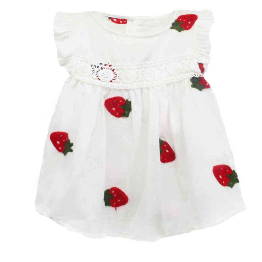 Baby Clothes, Summer Frill Sleeve Cotton Pineapple Sleeveless Dresses