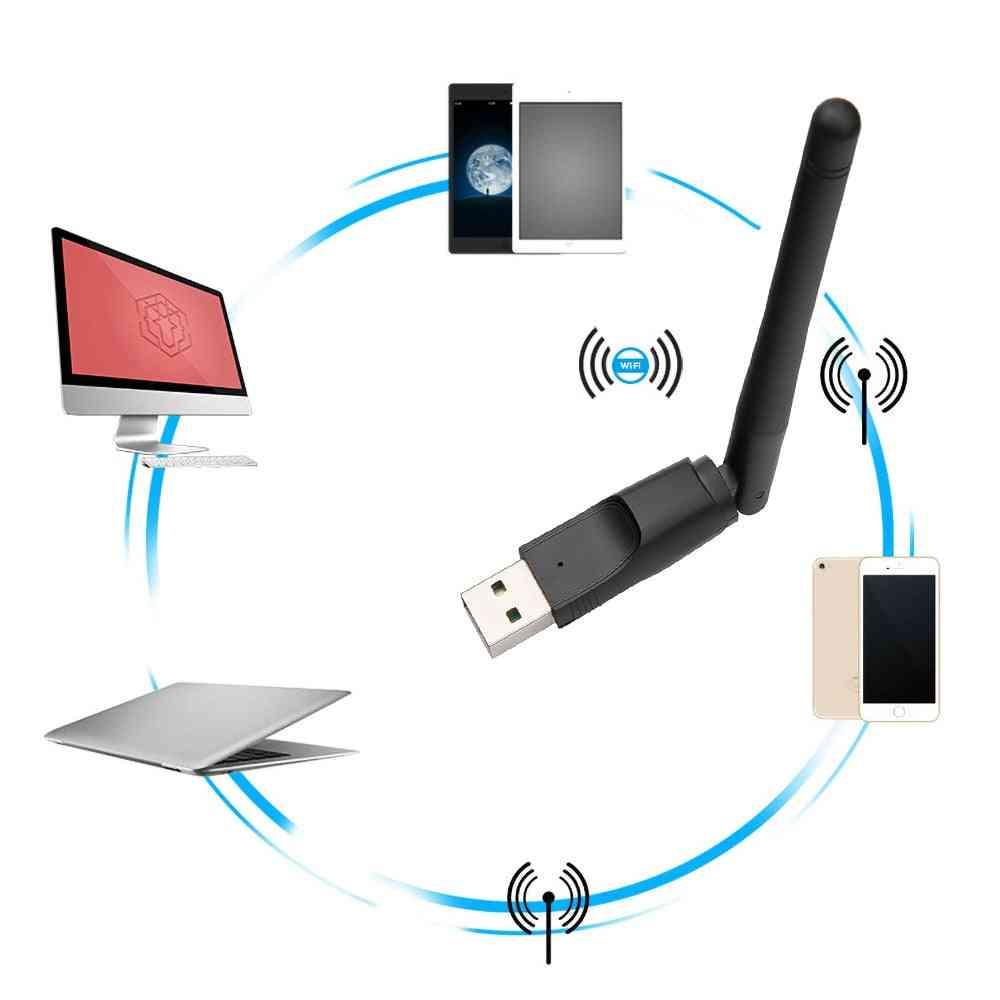 Mini Wireless Usb Wifi Adapter Network Lan Card Mt7601 150mbps 802.11n/g/b Network Lan Card Wifi For Set Top Box