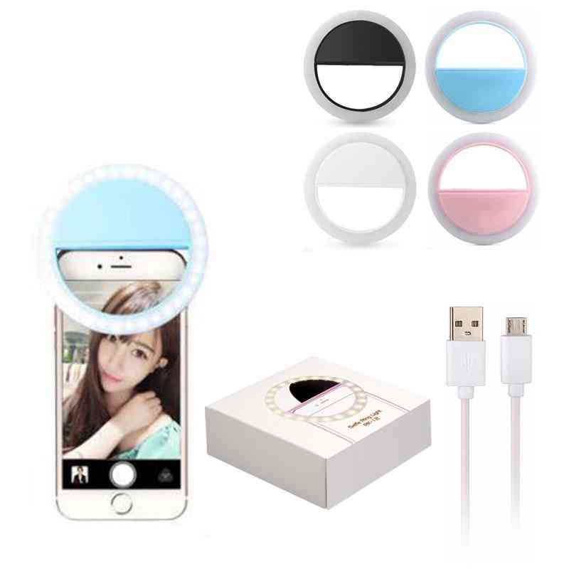 Rechargeable Self-timer Led Ring Flash Light