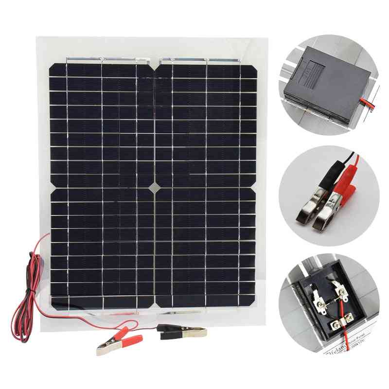 Solar Panel, Inverter Charge Controller Battery Charger Kit