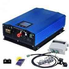 1000/1200w Solar On Grid Inverter, Pure Sine Dc24v 48v/72v To Ac110v Ac220v With Limiter Sensor Powerinverter Battery Discharge