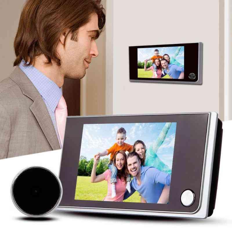 Wifi Digital Peephole Viewer, 120 Degrees Doorbell Door Eye Ir Camera