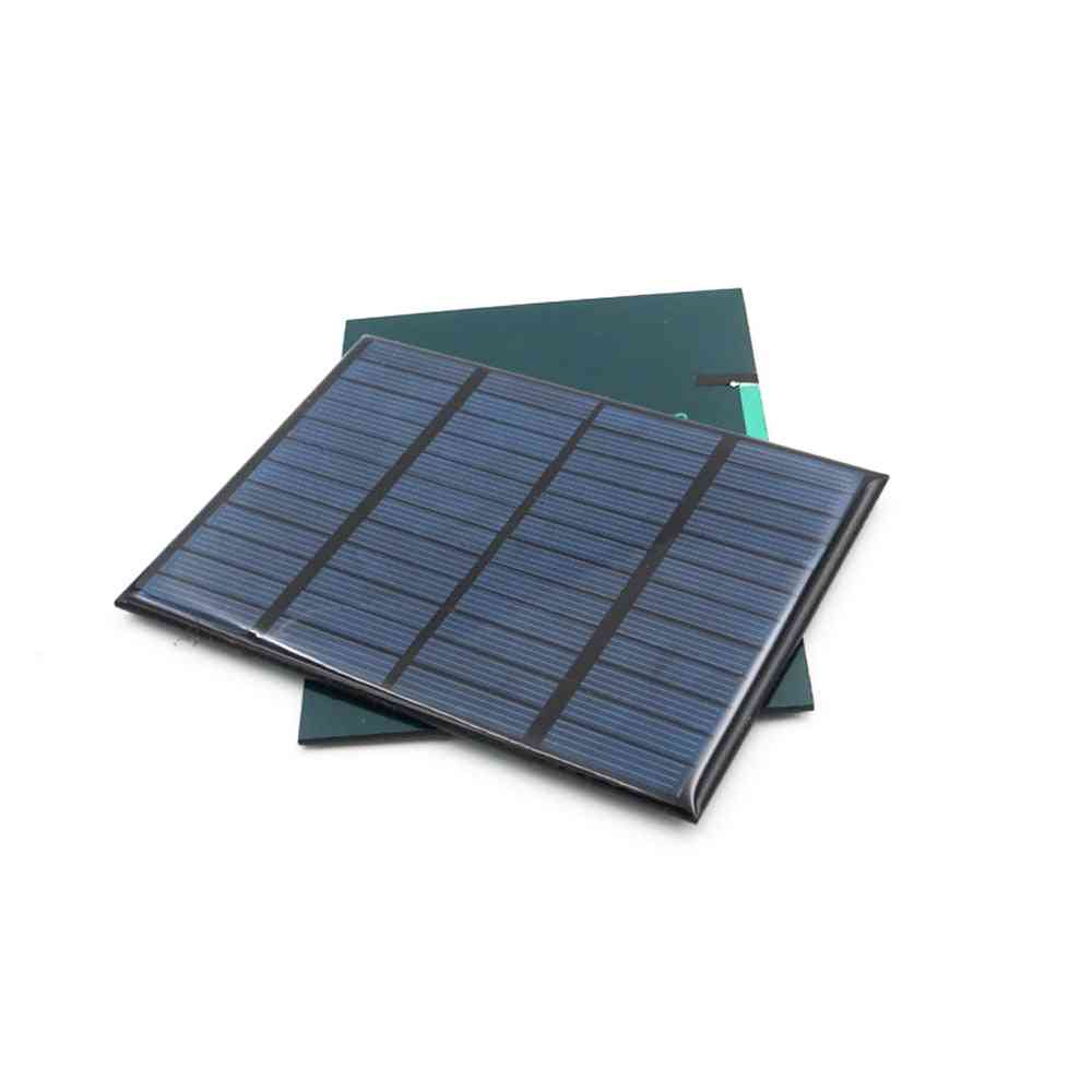 12v 1.5w Solar Panel Diy Battery Power Charge