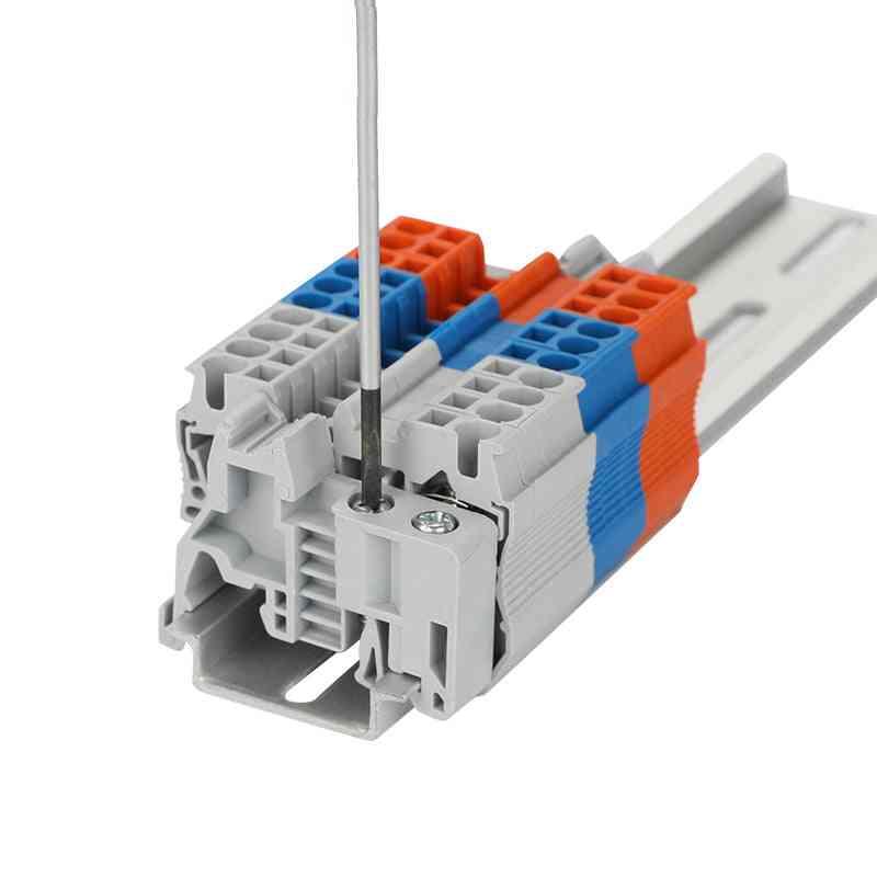 Din Rail Terminal Block, Universal Panel Mount Uk 2.5b Screw, Electronic Strips Contactor