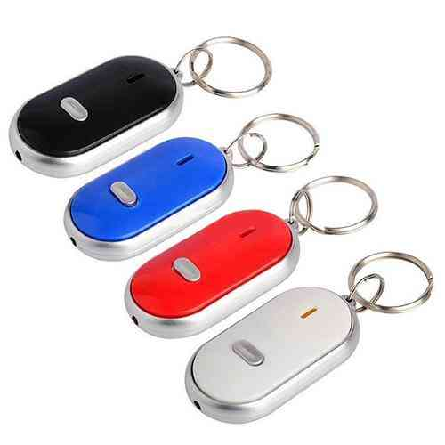 Anti-lost Led Key Finder Find Locator Keychain, Whistle Beep Sound Control Torch