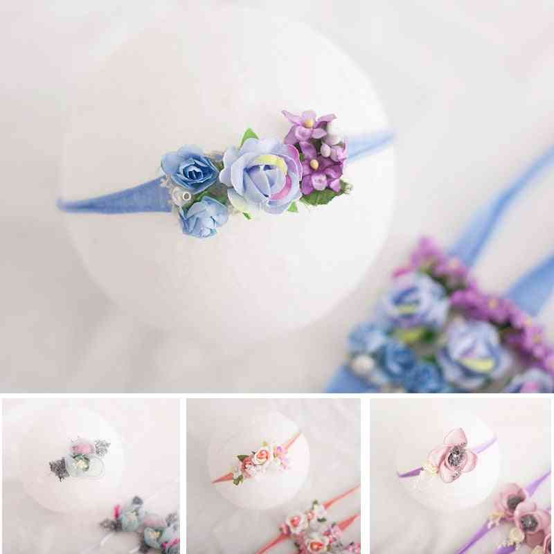 Baby Girl Headbands, Bows Flowers Elastic Infant Hair Accessories For Newborn Photography Props