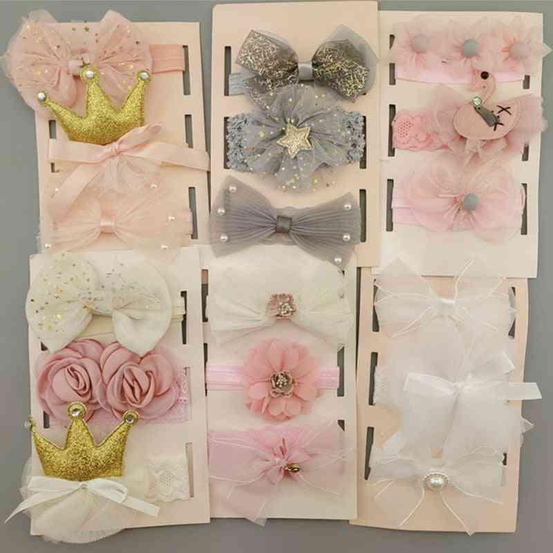 Flower Baby Girl Headband Bows
