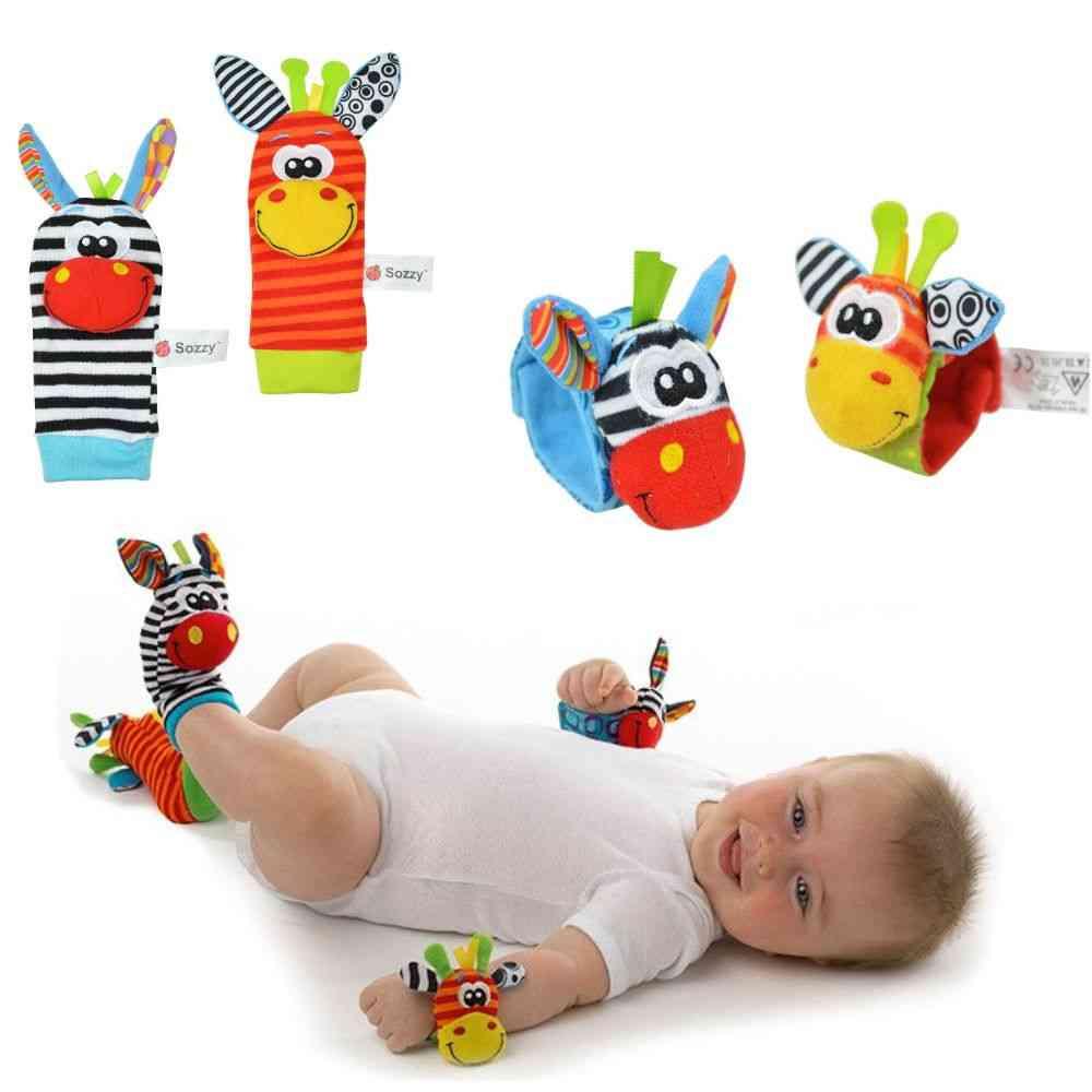 Baby Infant Soft Toy, Wrist Rattles Finders Developmental Bells Foot Sock