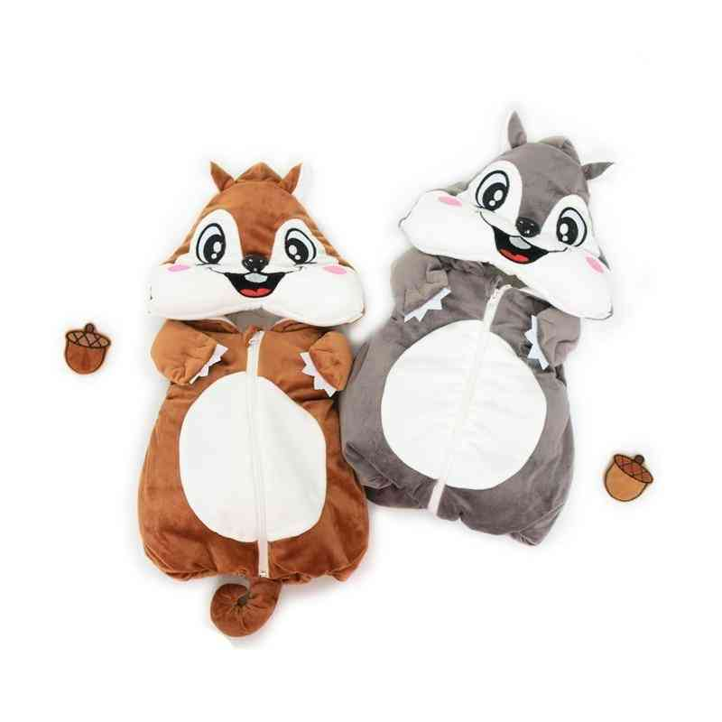 Cute Autumn & Winter Vest, / Baby Thick Cartoon Mouse Hooded, Warm Waistcoat Clothing