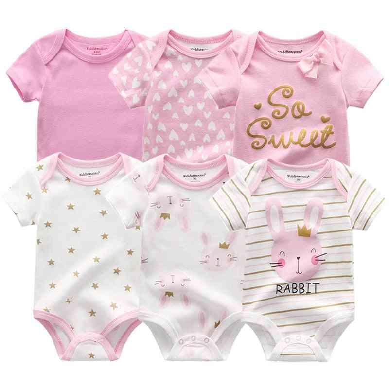 Newborn Baby / Bunny Summer Clothes, Cotton Bodysuits Short Sleeve Body Jumpsuit