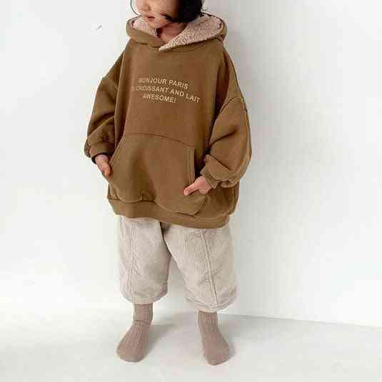Children's Pullover Cotton Sweater, Casual Top Letters Printed