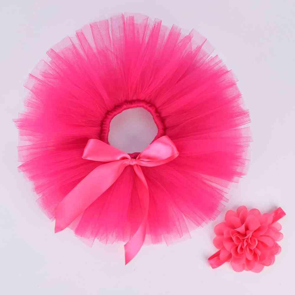 Newborn Baby Tutu Skirt & Headband Set
