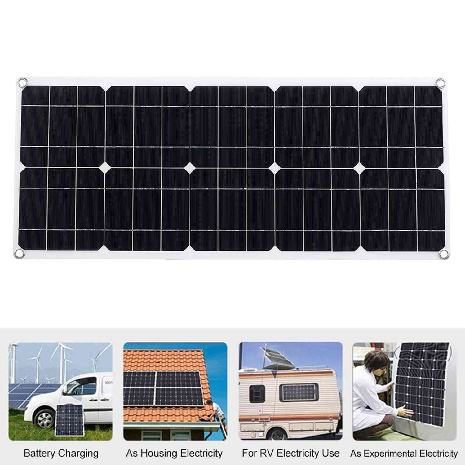 Outdoor Solar Panel With 2 Usb Interface Car Battery Charger Kits