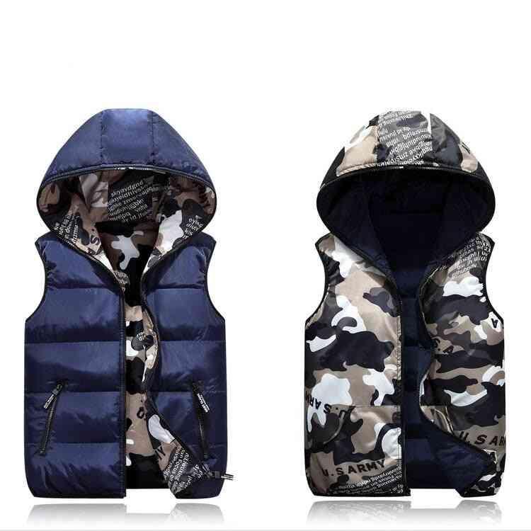 Camouflage Vest Jacket Outerwear