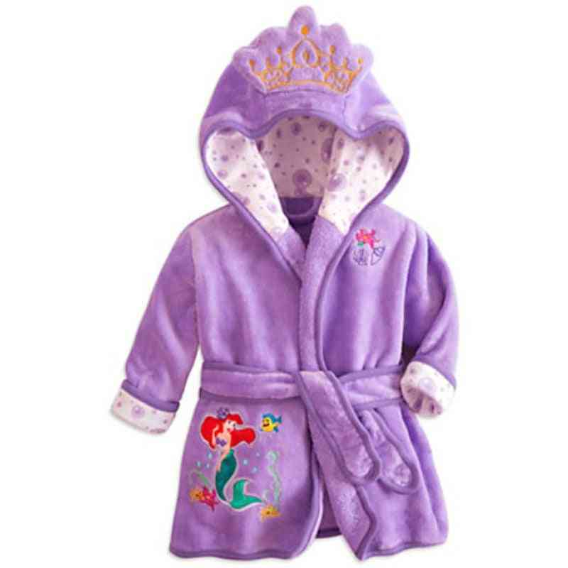 Children Pijamas- Minnie Infantil Warm Sleepwear Robe