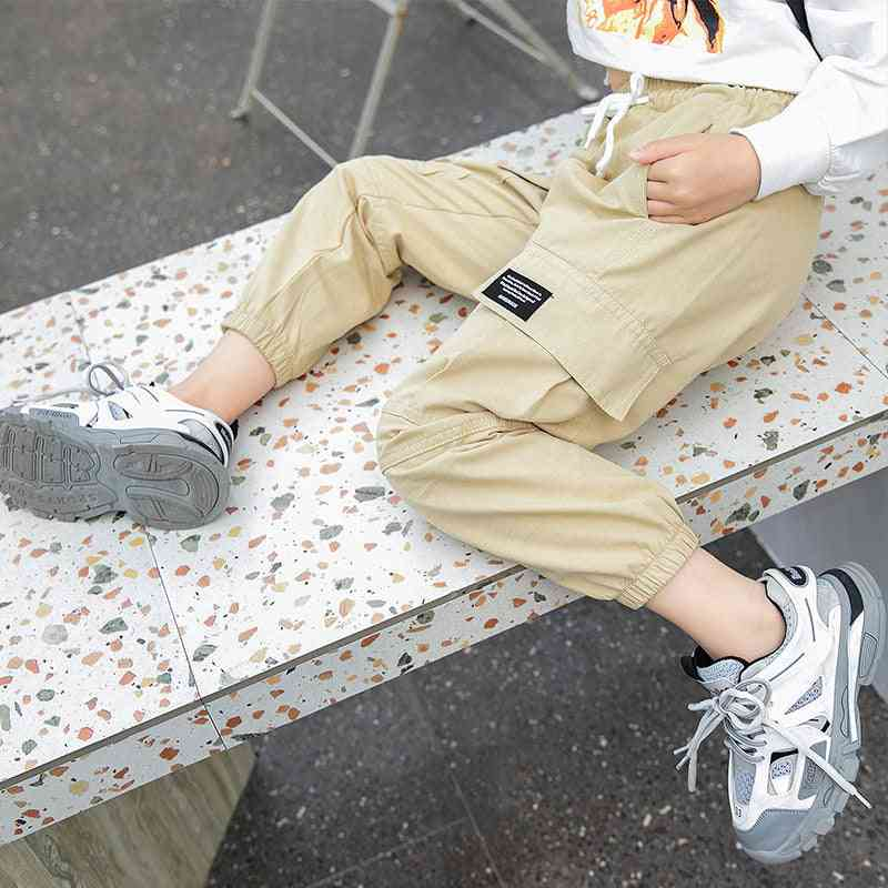 Cowgirl Cargo Elastic Pants- Kids Cotton Trousers