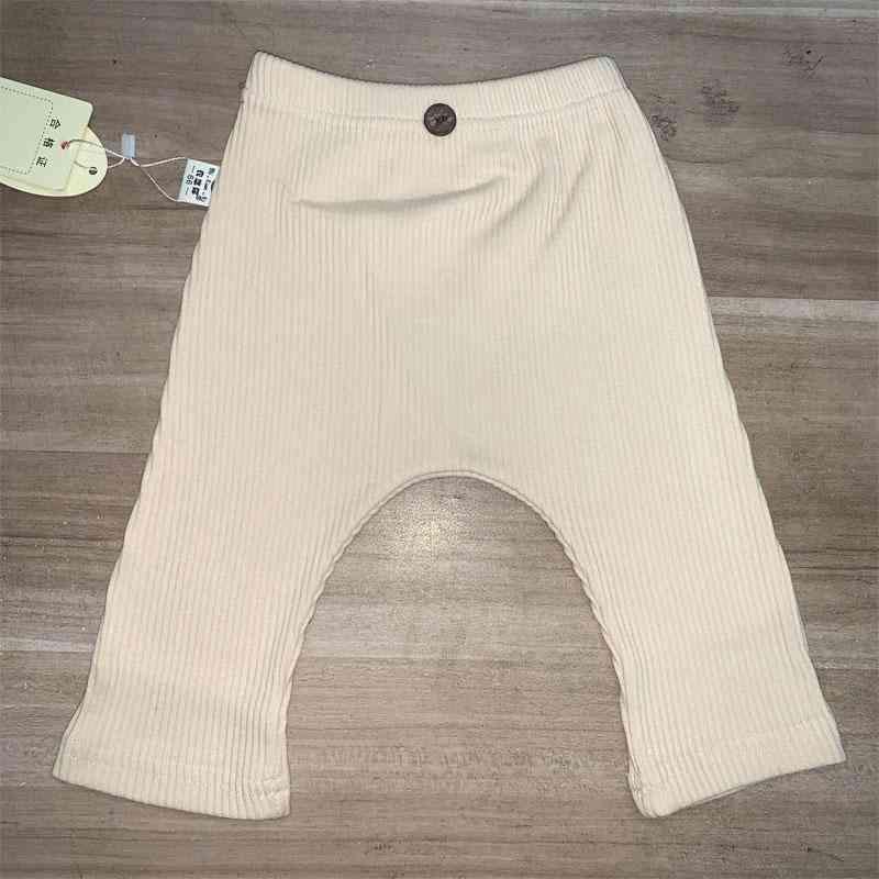 Spring Newborn Baby Leggings, / - Ribbed Elastic Striped Pants