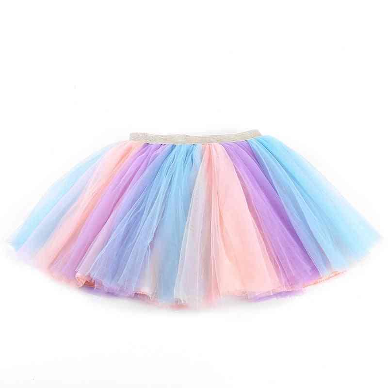 Girls Skirts, Baby Ballet Dance Rainbow Tutu Star Glitter Printed Ball Gown Clothes