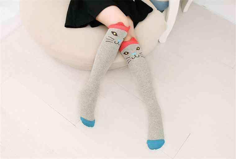 Girls / Boy Socks-'s Skarpetki Baby Cute Winter Cartoon Cotton Calcetines Animal Print High Knee