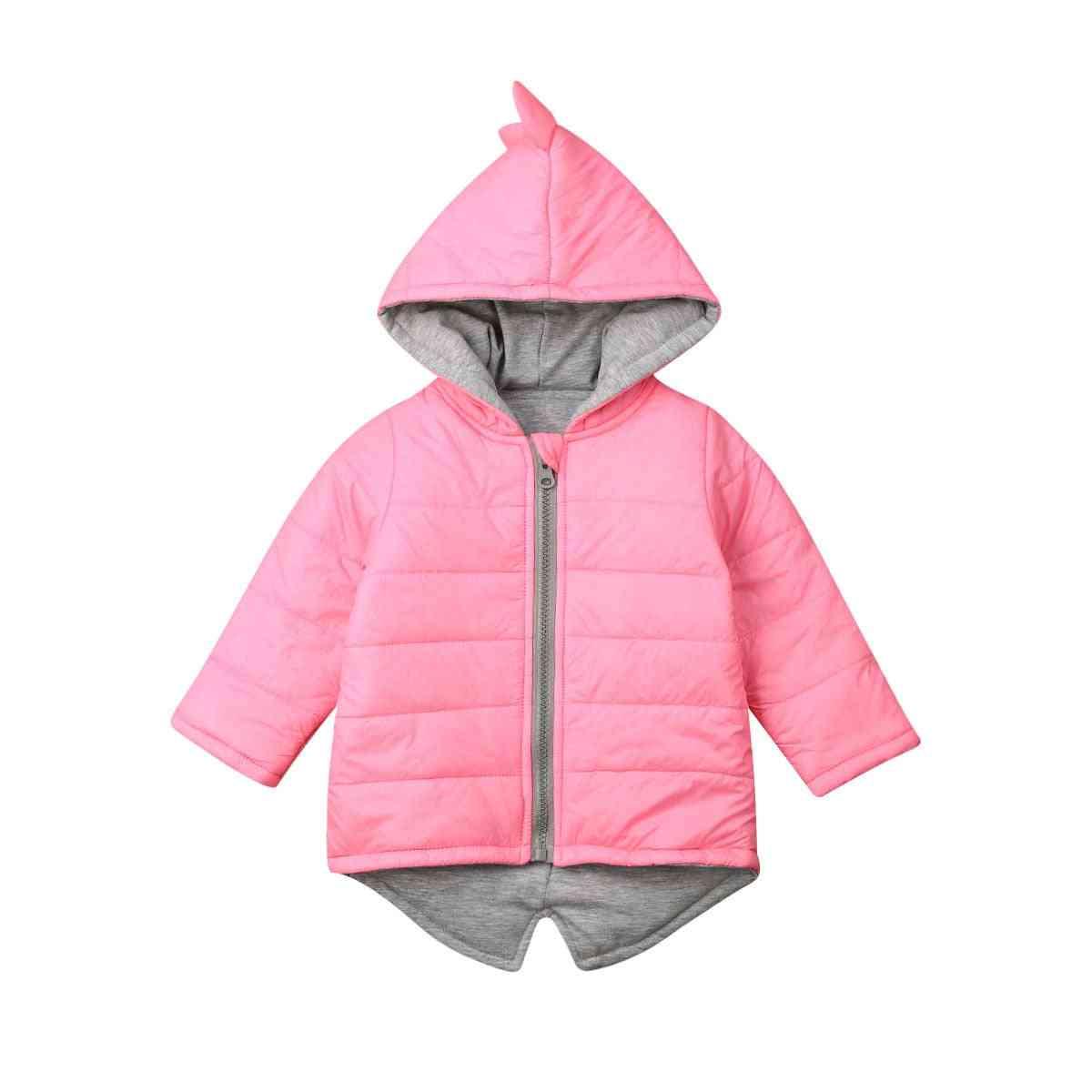 Dinosaur Cartoon Jacket For Boy And Girl, Thick Hoodie Zipper Coat
