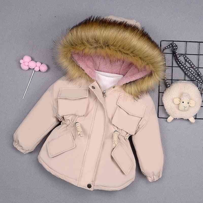 Baby Girl Denim Jacket- Winter Girl's Cotton Padded Clothes