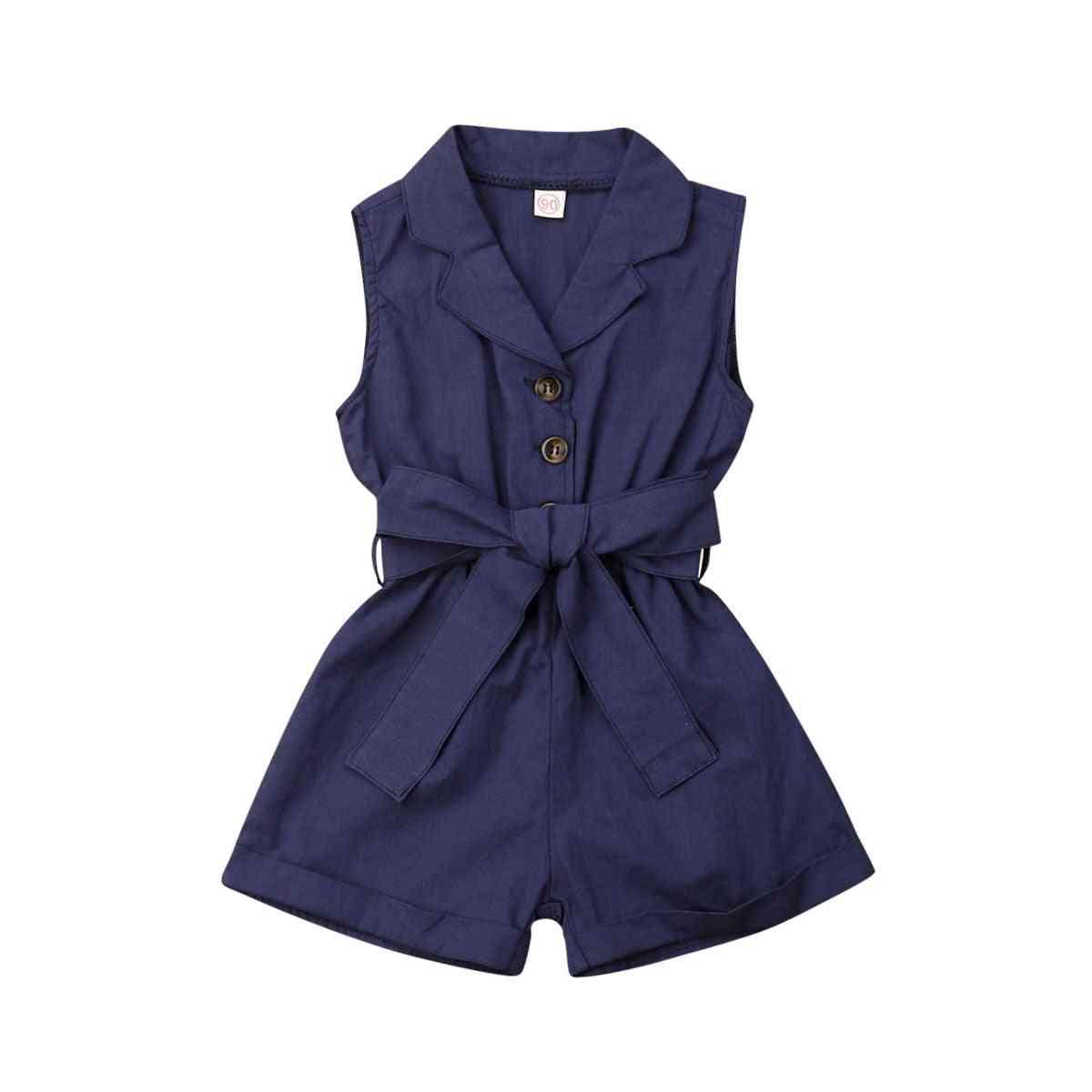 Summer Baby Kids Clothes, Bow-tie Waist Romper/ Bodysuit/jumpsuit Outfits Shorts