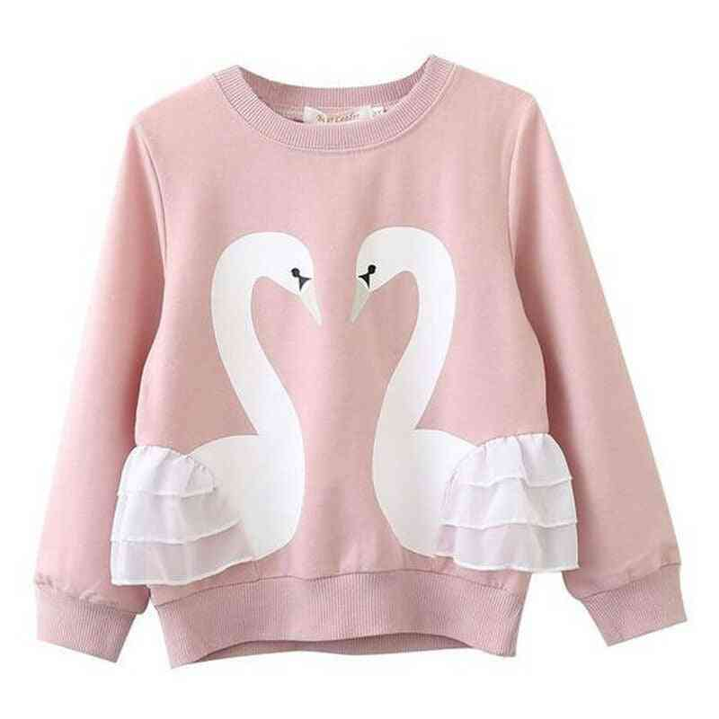 Baby Girl / Boy Swan Hoodies Sweatshirt, Pullover Long Sleeve Blouse Top T-shirt
