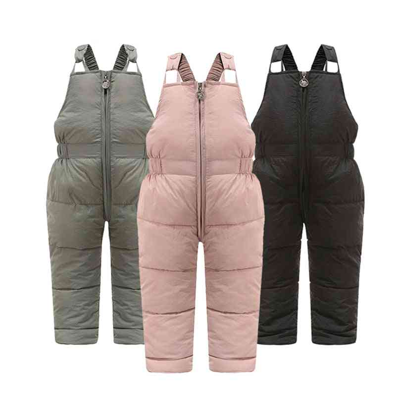 Children  Warm Overalls,  Girls & Boys Thick Pants With Cotton Filling