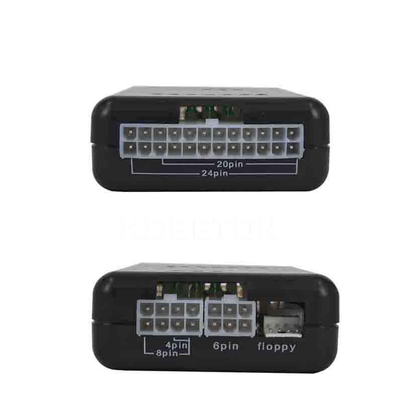 20/24 Pin Psu Atx Sata Hdd Power Supply Tester Led Indication Diagnostic Tool